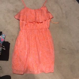 Lily Pulitzer orange and pink dress